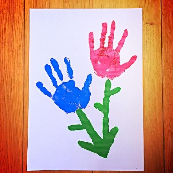 Handprint Flowers Kids Crafts
