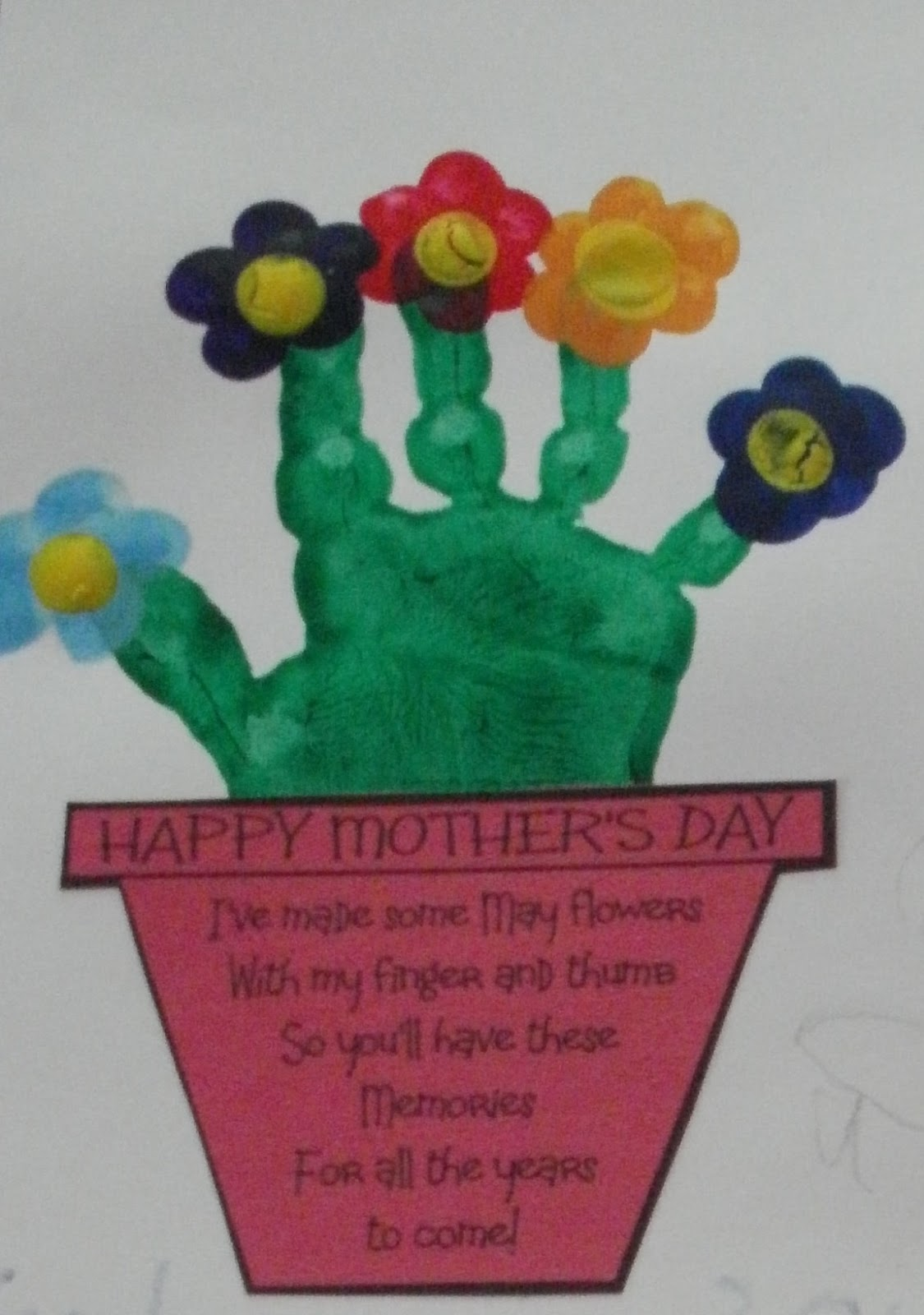 Handprint flowers an interesting craft for Crafts with hands