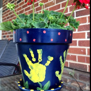 Handprint Flower Pot Photos