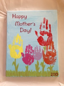 Photos of Handprint Flowers on Canvas