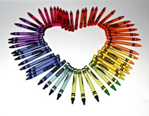Melted Crayon Heart Picture 2