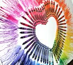 Melted Crayon Heart Art with an Interesting Tutorial