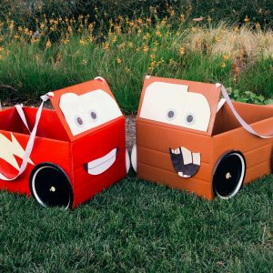 Cardboard Box Car Costume