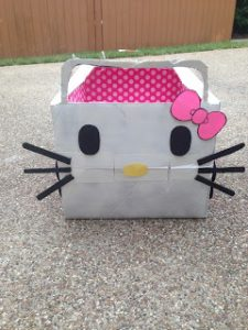 Hello Kitty Cardboard Box Car
