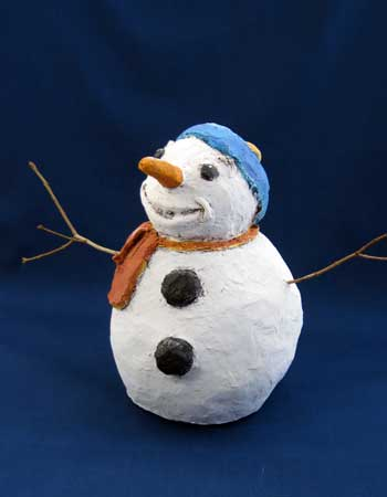 How To Make Paper Mache Snowman
