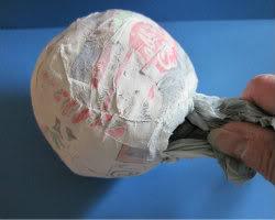 Paper Mache Snowman Picture 1