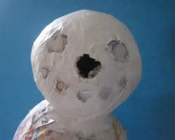 Paper Mache Snowman Picture 5
