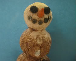 Paper Mache Snowman Picture 6