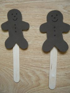 Popsicle Stick Puppets Gingerbread Man
