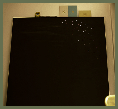 Chalkboard that lights up DIY