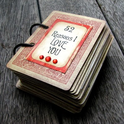 How to make a Valentine book from deck of cards