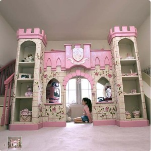 Loft playhouse bed