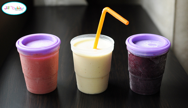 Recipes for chocolate smoothie and creamsicle smoothie