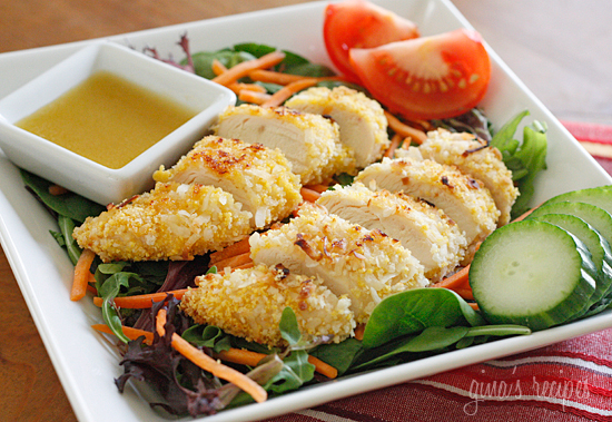 Delicious healthy recipe - oven fried chicken