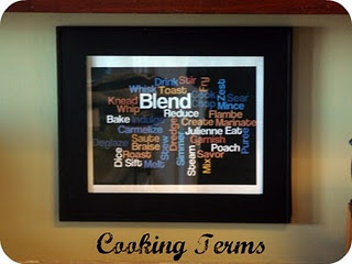Word art for the kitchen craft