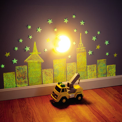 Glow in the dark mural for kid's room