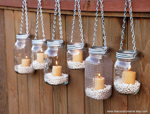 hanging mason jar garden lights
