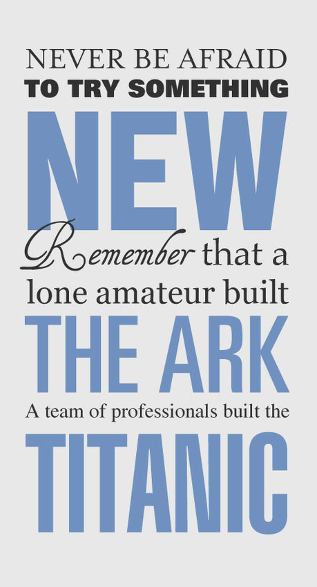 a lone amateur built the ark image quote