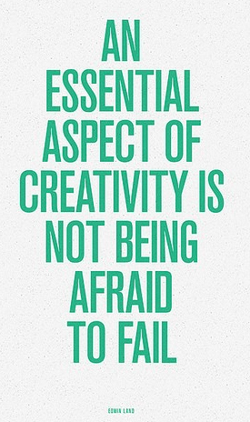 Image quote - not being afraid to fail