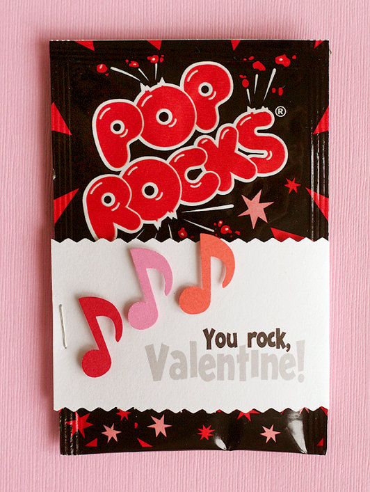 How to make Valentines with Pop Rocks candy