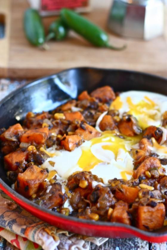 Sweet potato breakfast skillet recipe