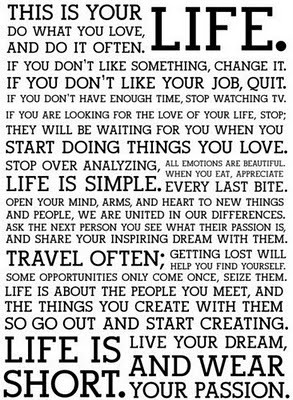 This is your life text graphic word art