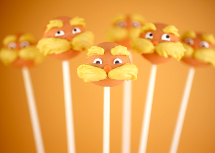 How to make Lorax cake pops