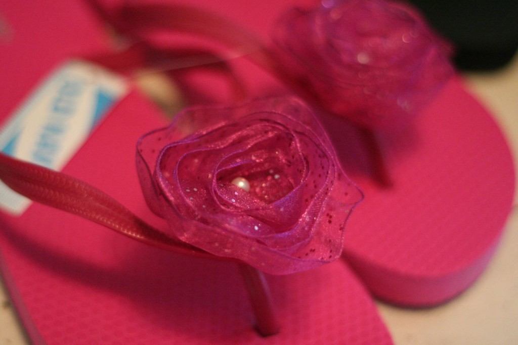 how to make flip flop flowers