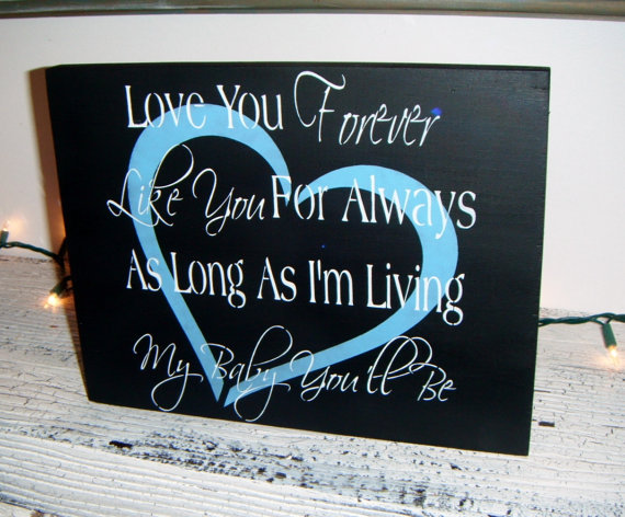Like you forever nursery art