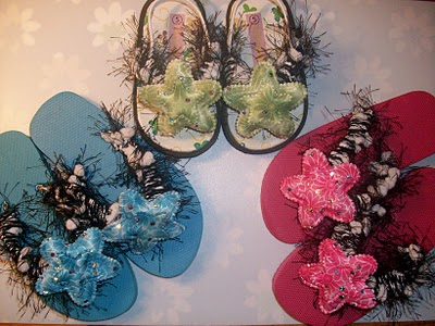 How to decorate flip flops for little girls