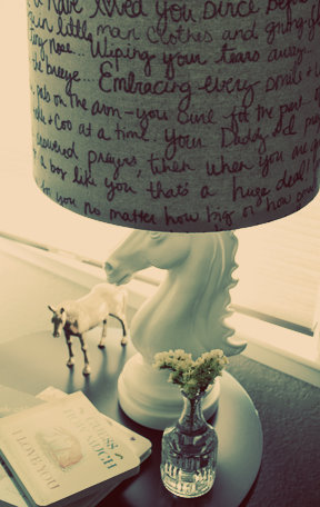 Lampshade makeover with Sharpies.