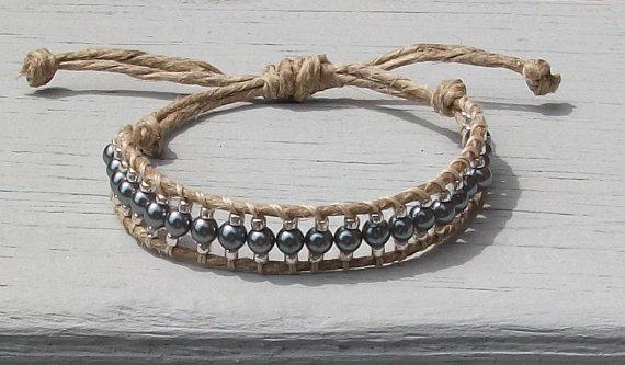 Handmade chan luu style hemp bracelet