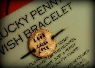 Lucky penny hemp bracelet