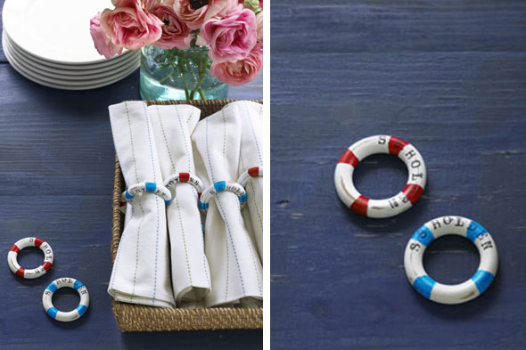 Make your own napkin rings ideas