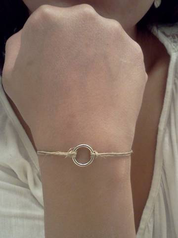 Silver Eternity Hemp Bracelet
