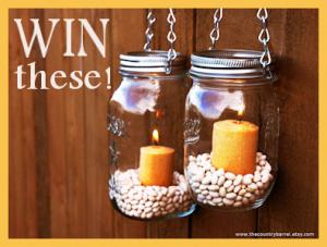 Win Mason Jar hanging lanterns