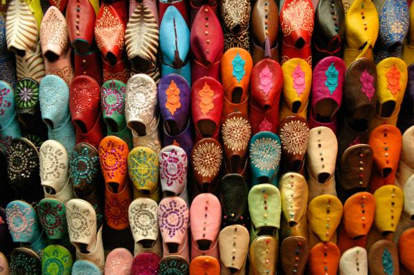 Moroccan style babouches