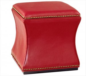 Red furniture - red storage ottoman