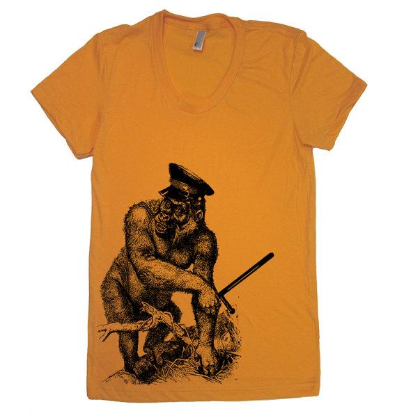 shirts with animals on them - gorilla
