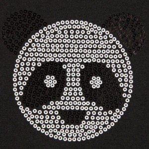 Sequined panda t-shirt