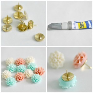 DIY pretty thumbtacks