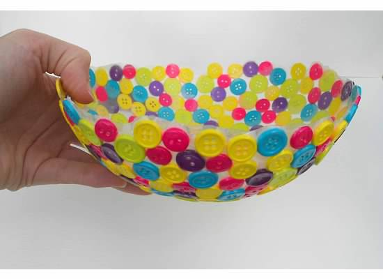 girl scout idea - button bowl