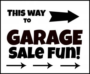 garage sale flyers