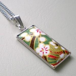 washi tape necklace