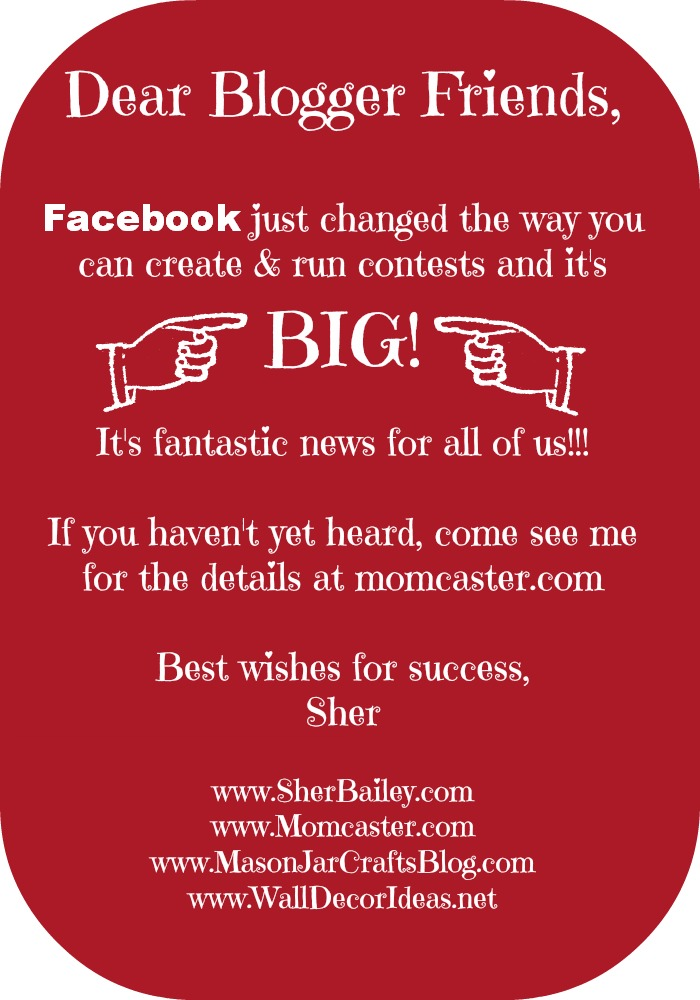 Facebook contest rules have changed