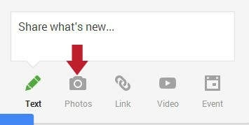 Learn how to overlay text on a photo on Google Plus.