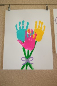 Handprint Bouquet of Flowers Photo