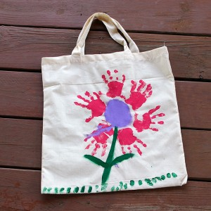 Handprint Flower Bag Picture