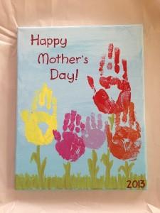 Photos of Handprint Flowers on Canvas