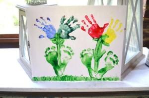 Picture of Handprint Footprint Flowers